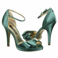 Women's Nina Earleen Verde Green Satin Shoes.com. Embrace the bliss of this day in the Earleen evening sandals by Nina.