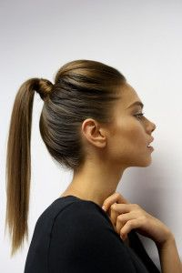Ponytail Hairstyles Stunning Evening Sleek Ponytail0  Hair  Pinterest  Sleek Ponytail