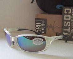 506d43f1a1a COSTA DEL MAR matte crystal green mirror BRINE POLARIZED 580G sunglasses  NEW!