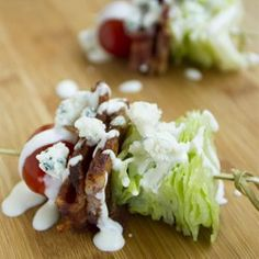 Wedge Salad on a Stick by allrecipes #Appetizer #Salad #Light
