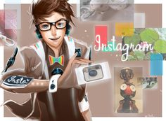 'Photogenic Instagram' - Social Media Sites and Browsers as Anime Characters (by *Jon-Lock)