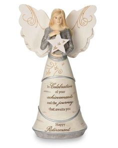 Pavilion Gift Company 82375 Celebration of Retirement Angel Figurine, Retirement Gifts For Men, Gifts For Boss, Gifts For Coworkers, Gifts For Friends, Retirement Parties, Trending Christmas Gifts, Christmas Gift For You, Perfect Christmas Gifts, 50th Birthday Quotes