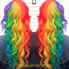 neon rainbow ombre hair - Google keresés