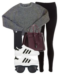"""""""Style #11312"""" by vany-alvarado ❤ liked on Polyvore featuring American Apparel, Yves Saint Laurent and adidas"""