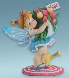 Amazon.com: My Little Kitchen Fairies - Mother's Day Tulips Fairy Figurine: Home & Kitchen
