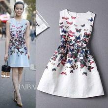 15 cores de impressão Casual vestido novo 2016 moda impressão sem mangas colete vestido Vestidos Vintage mulher tutu Vestidos curtos LW071(China (Mainland))