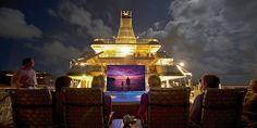 Watch movies under the stars: The 9 Best Movie Nights at Sea #cruise #cruising #movienight
