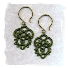 tatted earrings | *TATTING ~ EARRINGS SMALL PIECES