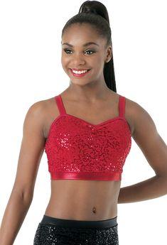 7d7b239b175 Solo Dance Costumes, Dance Wear Solutions, Dance Fashion, Sequin Top, Bra  Tops