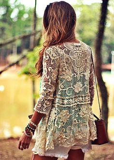 Moikana Cream Lace Jacket