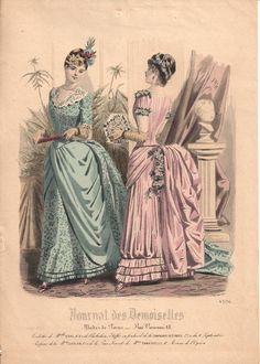 1885 February Paris magazine fashion plate