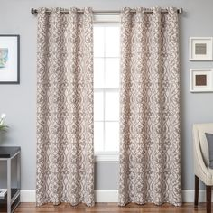 Azure Heritage Linen Blend Jacquard  | Overstock.com Shopping - The Best Deals on Curtains
