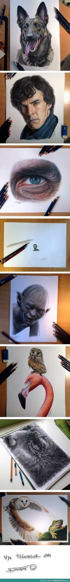Photo realistic drawings by Dino Tomic