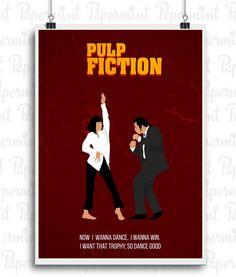 Poster minimalista a todo color. 23€. Pulp Fiction.