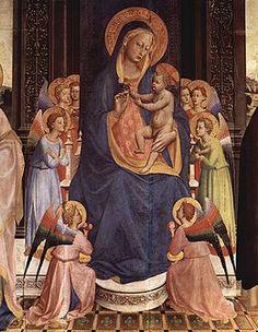 Fra Angelico - Particolare dalla Pala di Fiesole (1424-1425 circa), Fiesole, Chiesa di San Domenico. L'opera è considerata la prima conosciuta dell'Angelico.