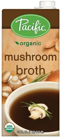 Organic Mushroom Broth - LEAP SAFE PRODUCT:  Ingredients: water, organic mushrooms, sea salt, organic garlic