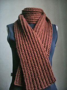 Minhas linhas e eu: Cachecol unissex em tricot - com receita