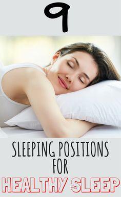 9 Sleeping positions for healthy sleep