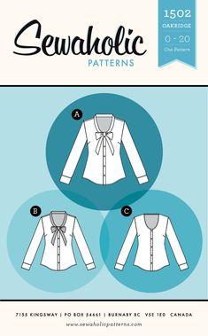 Sewaholic Patterns - Oakridge Blouse PDF Pattern, $11.98 (http://www.sewaholicpatterns.com/oakridge-blouse-pdf-sewing-pattern/)
