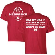 Day by Day Nebraska Huskers Tee - Red - SS
