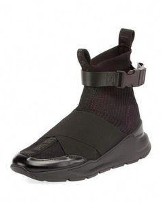 Balmain Men s Knit High-Top Sock Sneakers  Sneakers e2aa8c7f4dd