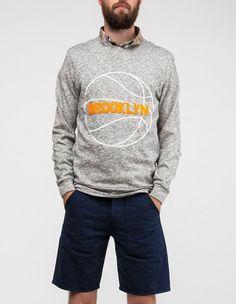 brooklyn we go hard basket crewneck