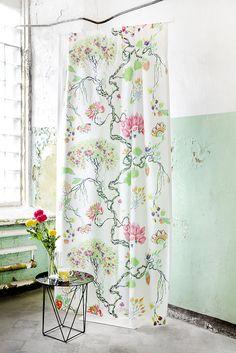 Bonsai curtain and mug by Matleena Issakainen