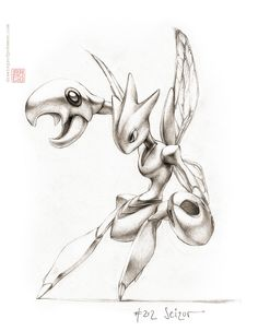 Scizor 8 x 10 print pokemon drawing art bug steel Pokemon Real, Pokemon Fan Art, Cool Pokemon, Pics Of Pokemon, Drawing Sketches, Art Drawings, Drawing Art, Pokemon Sketch, Texture Drawing