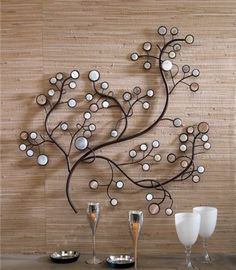 Metal wall décor has become very popular among most modern home interior decorations, as they are very different, simple, stylish and attractive. It is very usual to hang wall paintings that are do… Fabric Wall Decor, Wall Decor Design, Home Decor Wall Art, Wrought Iron Wall Decor, Metal Wall Decor, Interior Exterior, Home Interior Design, Scrabble Wall Art, Metal Tree Wall Art