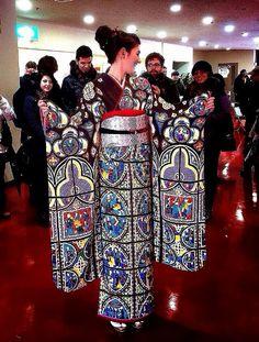 Stained glass kimono.