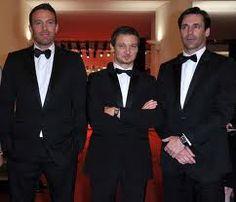 Ben Affleck, Jeremy Renner, Jon Hamm at 'The Town' premiere. Talk about a hero sandwich...~