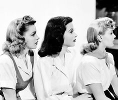 vintagegal:  Judy Garland, Hedy Lamarr and Lana Turner in a publicity photo for Ziegfeld Girl (1941)