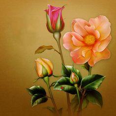 "Barnali Bagchi ~ ""Rose Bouquet."""