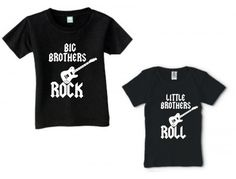 BIG BROTHERS ROCK LITTLE BROTHERS ROLL COOL SHIRT SET OF 2 SIBLINGS | KoolKidzClothing - Clothing on ArtFire