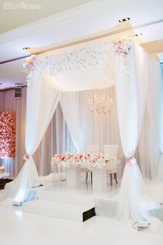 Draped Chuppah Wedding Ideas, Head Table Wedding Decor, Wisteria Wedding Decor, Sweetheart Table Ideas