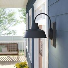 Great for Rickey Outdoor Barn Light by Longshore Tides Patio Garden Furniture from top store Outdoor Barn Lighting, Outdoor Sconces, Outdoor Wall Lantern, Outdoor Walls, Antique Light Fixtures, Led Light Fixtures, Antique Lighting, Light Bulb, Wall Sconce Lighting