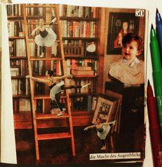 """Stephanie Fey on Twitter: """"Kindheitsträume, in der Bibliothek von Robert Harris. Art Journal mit der anderen Seite 50 (eigentlich 51) https://t.co/eHqF2hO5vB"""""""