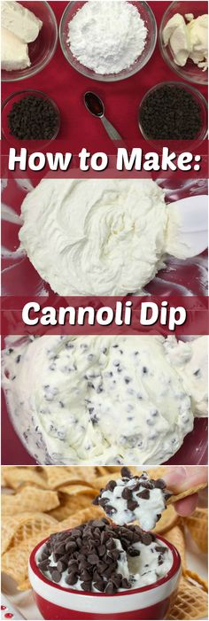 to Make: Best Cannoli Dip Cannoli dip? Here's our step-by-step (with photos!) on how to make this yummy dessert dip. Here's our step-by-step (with photos!) on how to make this yummy dessert dip. Cannoli Dip, Cannoli Filling, Cannoli Recipe, Cannoli Dessert, Cannoli Cake, Tiramisu Cake, Italian Desserts, Easy Desserts, Delicious Desserts