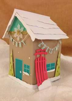 Stampin' Up! demonstrator Karla S's project showing a fun alternate use for the Watercolor Winter Simply Created Card Kit.