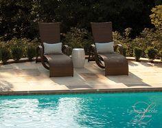 Lounge by the pool #interiordesign #decor