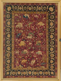 Silk Animal Carpet. Second half 16th century. Made in Iran, Kashan