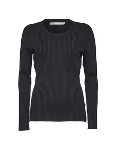 Tiger Of Sweden: Nye pullover - Women's black ribbed pullover in viscose. Features a rounded neckline.