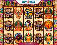 Throne Of Egypt free #slot_machine #game presented by www.Slotozilla.com - World's biggest source of #free_slots where you can play slots for fun, free of charge, instantly online (no download or registration required) . So, spin some reels at Slotozilla! Throne Of Egypt slots direct link: http://www.slotozilla.com/free-slots/throne-egypt