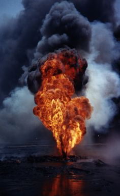 My husband went to Kuwait to put out the oil fires after the gulf war