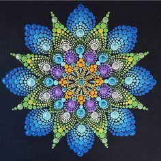 Dot Art Painting, Mandala Painting, Pebble Painting, Painting Patterns, Stone Painting, Mandala Painted Rocks, Mandala Rocks, Mandela Art, Posca Art