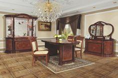 Szín: Dió, Fényes-Dekor, Antikolt Anyag: LMDP (laminált) Az összeállításban szerepel: 1 db Komód+Tükör, 1 db Tálalószekrény, 1 db Étkezőasztal, 4 db Szék.  www.butornagy.hu Entryway Tables, Mirror, Furniture, Home Decor, Decoration Home, Room Decor, Mirrors, Home Furnishings, Home Interior Design