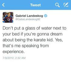 Gabriel Landeskog is a riot!