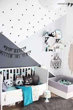 Children's room ideas and decoration - Children's room design for a baby in the. - Baby room - Children's room ideas and decoration – Children's room design for a baby in the wild one sty - Baby Bedroom, Baby Room Decor, Nursery Room, Boy Room, Girls Bedroom, Nursery Decor, Baby Room Design, Baby Boy Nurseries, Room Ideas
