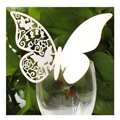 Kuke 50pcs Butterfly Wedding Table Paper Place Card Wine Glass Cards for Wedding Party Decoration (White) Kuke http://www.amazon.com/dp/B00VHW4XPS/ref=cm_sw_r_pi_dp_votXvb0D8RSZX 8