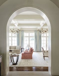 Perfect ceilings, floors, and windows. House of Turquoise: Collins Interiors